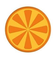 orange half icon vector image