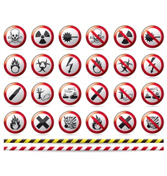 Prohibition Danger sign vector image vector image