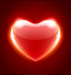 red heart shape vector image