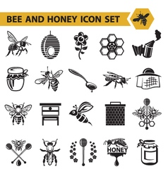 set of honey icons vector image vector image