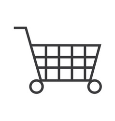 shopping cart sign line icon sign vector image