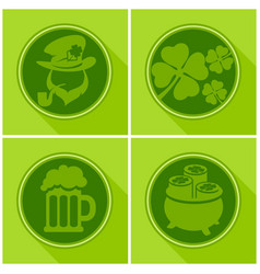 st patrick s day symbols vector image vector image