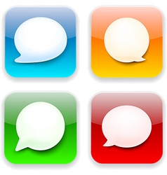 Web speech bubble app icons vector image
