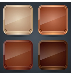 Wooden buttons vector image vector image