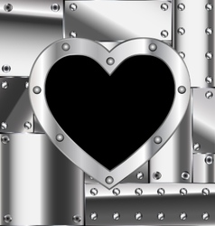 sheet of metal with heart vector image