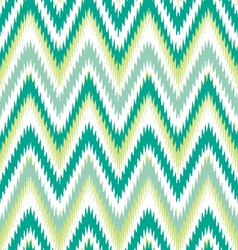 Emerald ikat chevron vector