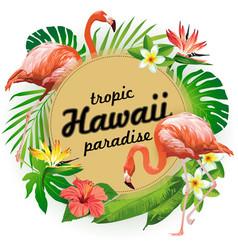 Hawaii tropic paradise party vector