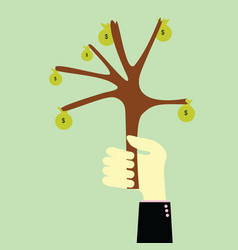Handle tree money vector