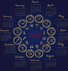 2015 Horoscope calendar vector image vector image