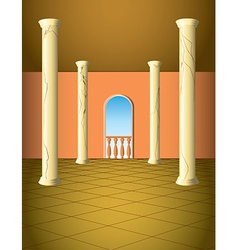 Column hall with window vector