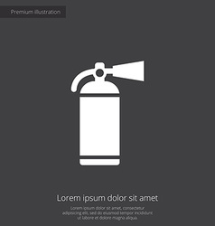 Fire extinguisher premium icon vector