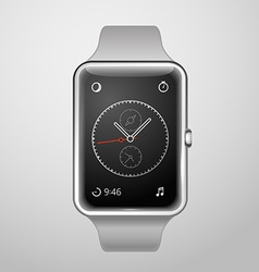 Modern digital watches template vector image