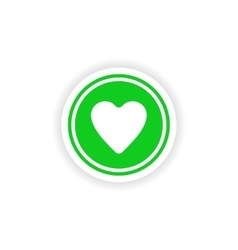 Icon sticker realistic design on paper logo heart vector