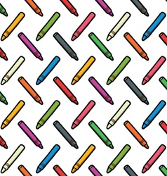 Pattern of color wax pencils vector
