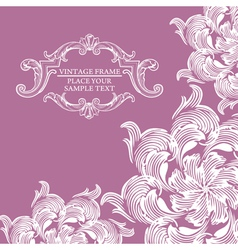 Elegance vintage card with place for text vector