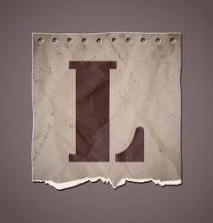 Alphabet in retro style vector