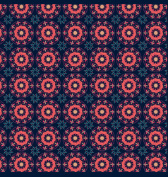 Abstract pattern with circle ornaments vector