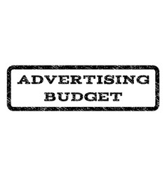 advertising budget watermark stamp vector image vector image