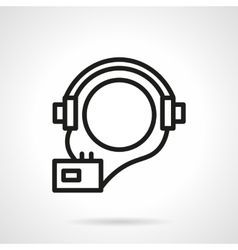 Audio courses simple line icon vector