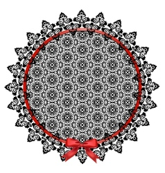 Black lace doily vector