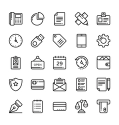 Business Icons 1 vector image vector image