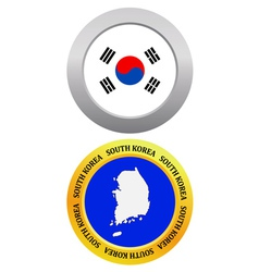 button as a symbol map SOUTH KOREA vector image vector image