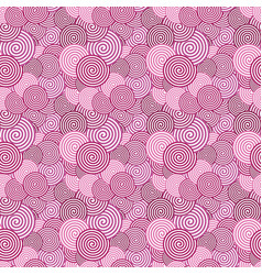 colored seamless pattern abstract spiral vector image vector image
