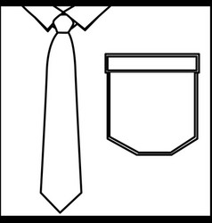 Figure elegant shirt with tie icon vector