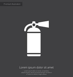 Fire extinguisher premium icon vector