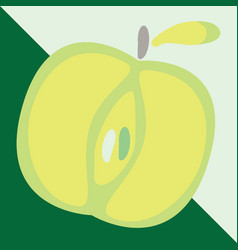 green apple sign icon fruit with leaf symbol vector image vector image