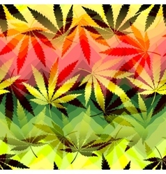 Hemp leaves on chevrones background vector