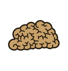 human brain think creativity image vector image vector image