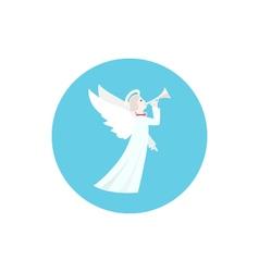 Icon colorful christmas angel vector