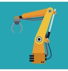 industrial robot arm engine futuristic vector image vector image