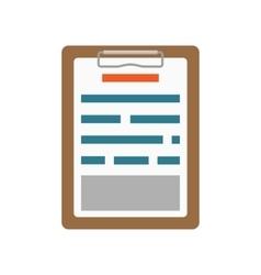 List clipboard icon vector image