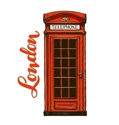 London red phone booth vector