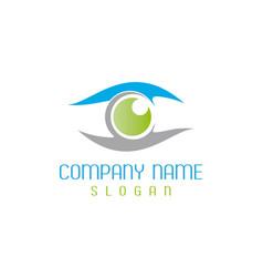 optometrist logotype vector image vector image