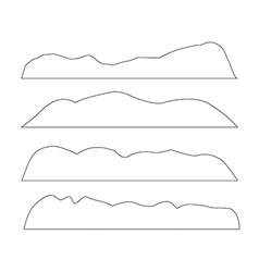 paths of Mountains set on the white background vector image
