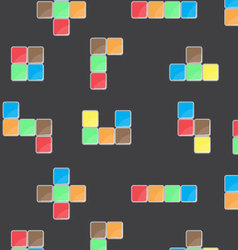 Pattern color block game vector image vector image