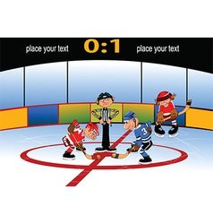 Playing hockey cartoon vector image vector image