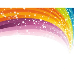 Rainbow advertising vector