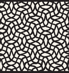 seamless pattern with hand drawn waves abstract vector image
