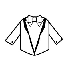 Sketch silhouette image wedding suit male jacket vector