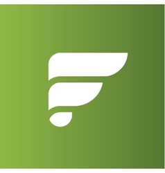 The letter F on the flat style logo vector image vector image