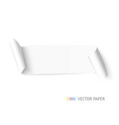 White paper curved web banner with roll vector