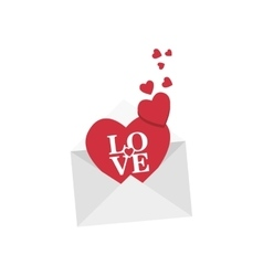 Love romantic emotions design vector