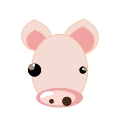 Pig animal cartoon vector