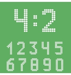 Scoreboard number set vector