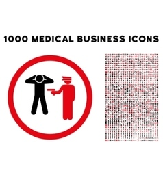 Arrest rounded icon with medical bonus vector
