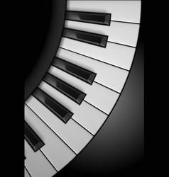 piano keys on black background for design vector image